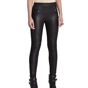 BCBG Kalin faux leather moto legging